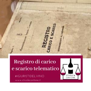 Diritto Registri di carico e scarico telematico
